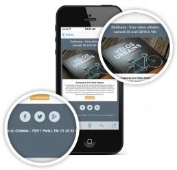 suppression des liens bleus soulignés sur l'iphone