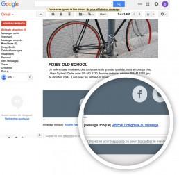 Exemple de message tronqué dans Gmail