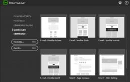 modèles emailing Dreamweaver CC 2017