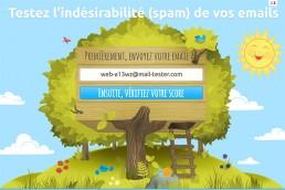 L'interface du site mail-tester